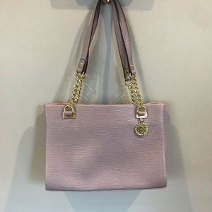 Lavender purse with gold chain detail